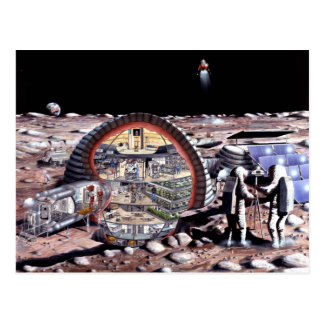 Colonization of the Moon Postcard