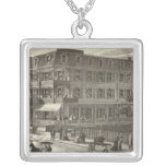 Colonnade House, Atlantic City Silver Plated Necklace
