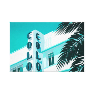 Colony Hotel Miami Canvas Print