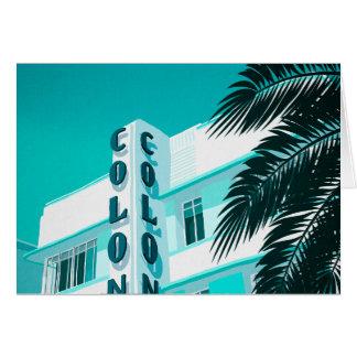 Colony Hotel Miami Card
