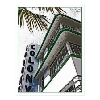 Colony Hotel, Miami, FL. Postcard
