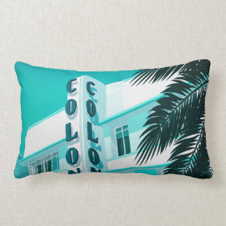 Colony Hotel Miami Lumbar Pillow