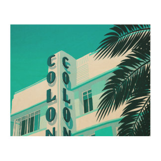 Colony Hotel Miami Wood Wall Art