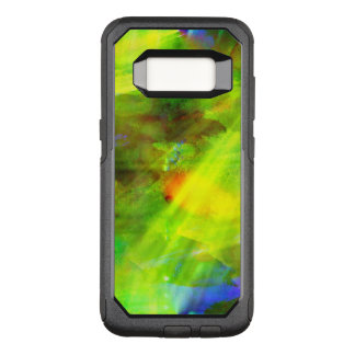 color abstract seamless background green, yellow OtterBox commuter samsung galaxy s8 case