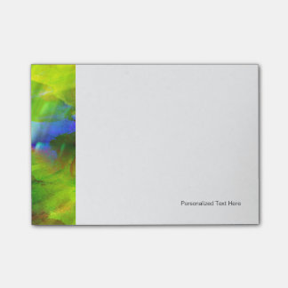 color abstract seamless background green, yellow post-it notes