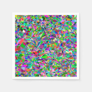 Color Abstract Stained Glass Pattern Paper Napkin