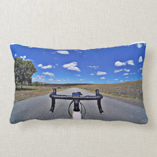 Color and black and white Fikeshot pillow. Lumbar Pillow
