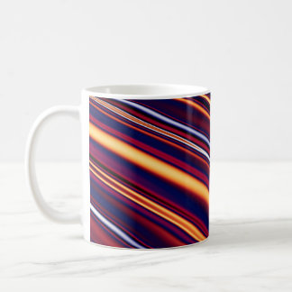 Color and Form Abstract - Curved Slope Warm Tones Coffee Mugs