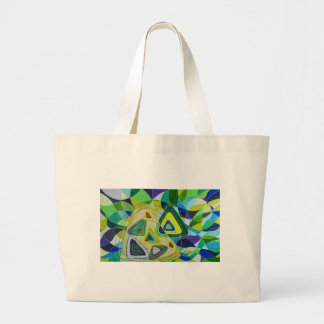 Color art large tote bag