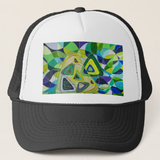 Color art trucker hat