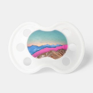 Color Band Mountains Baby Pacifier