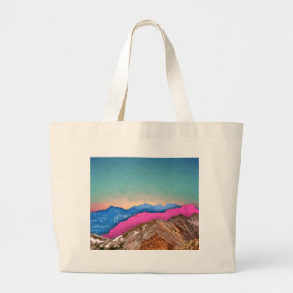 Color Band Mountains Large Tote Bag