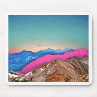 Color Band Mountains Mouse Pad