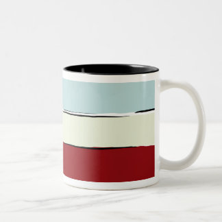 Color Bands Pattern Two-Tone Coffee Mug
