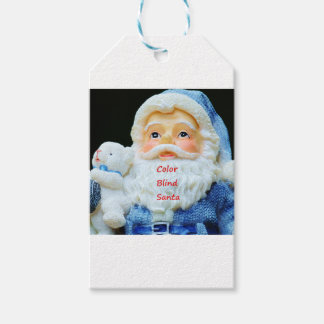 Color Blind Santa With Cute Baby Polar Bear Gift Tags