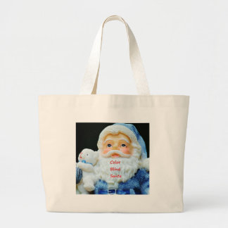 Color Blind Santa With Cute Baby Polar Bear Large Tote Bag