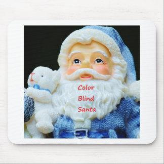 Color Blind Santa With Cute Baby Polar Bear Mouse Pad