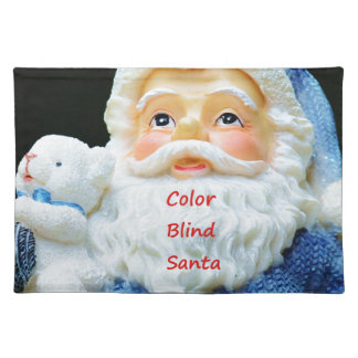 Color Blind Santa With Cute Baby Polar Bear Placemat