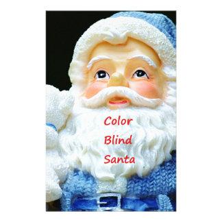 Color Blind Santa With Cute Baby Polar Bear Stationery