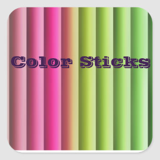 Color Blinds Square Sticker