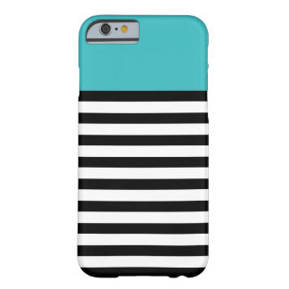 Color Block Aqua Black White Stripe iPhone 6 Cases