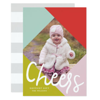Color Block Cheers Photo Card
