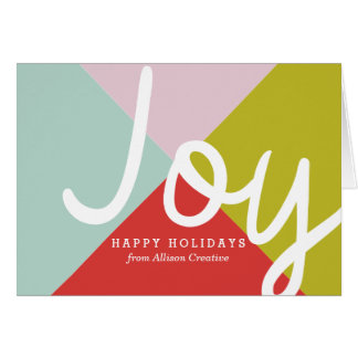 Color Block Corporate Holiday Greeting Card
