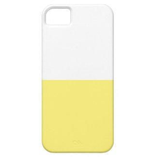 Color Block - Cream Yellow + White - iPhone 5 Cover