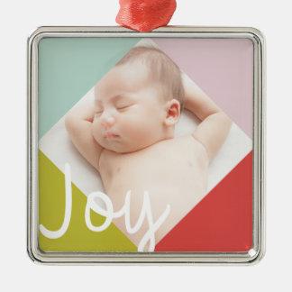 Color Block Joy Metal Ornament