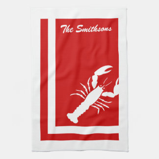 Color Block Lobster American MoJo Kitchen Towels
