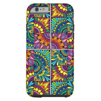 Color Block Mandala Tough iPhone 6 Case
