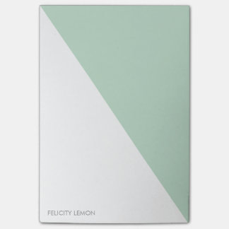 Color Block - Mint Personalized Post-it® Notes