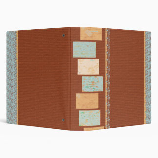 Color Block Modern Grunge 3 Ring Binder