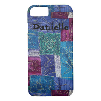 Color Block Patch Art Gold Floral Colors Cell Case