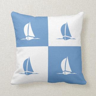 Color Block Pillow Sailboats