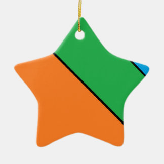 color blocking your summer ceramic ornament