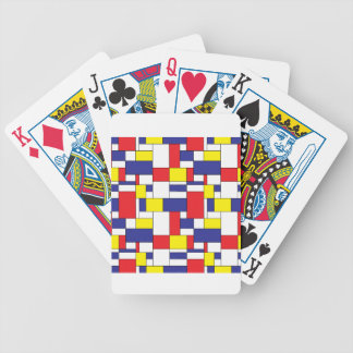 color blocks bicycle playing cards