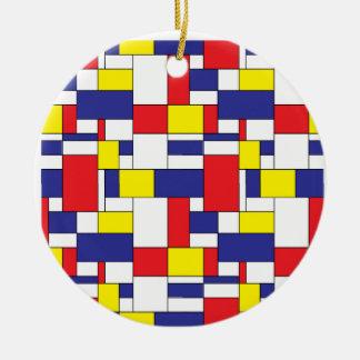 color blocks ceramic ornament