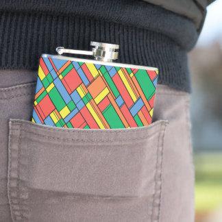Color blocks hip flask