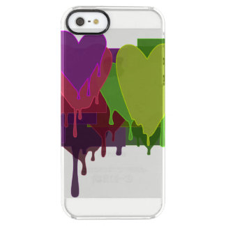 Color Blocks Melting Hearts Clear iPhone SE/5/5s Case