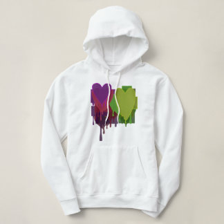 Color Blocks Melting Hearts Hoodie