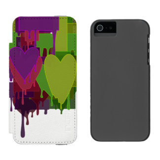 Color Blocks Melting Hearts Incipio Watson™ iPhone 5 Wallet Case