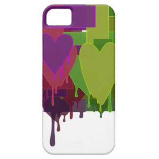 Color Blocks Melting Hearts iPhone 5 Covers