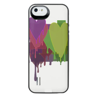 Color Blocks Melting Hearts iPhone SE/5/5s Battery Case
