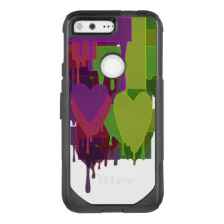 Color Blocks Melting Hearts OtterBox Commuter Google Pixel Case