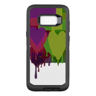 Color Blocks Melting Hearts OtterBox Defender Samsung Galaxy S8+ Case