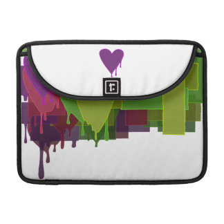 Color Blocks Melting Hearts Sleeves For MacBooks