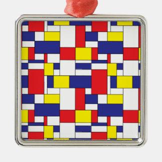 color blocks metal ornament