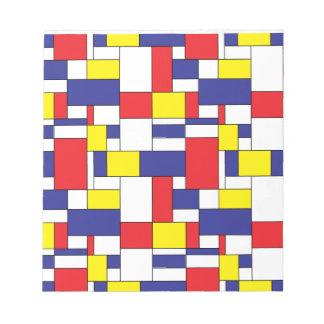 color blocks notepad