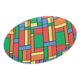 Color blocks plate